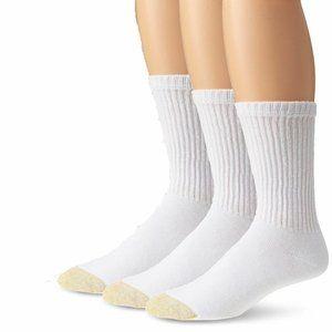 NWOT 6 Pair  Gold Toe Regular Top Crew Socks White